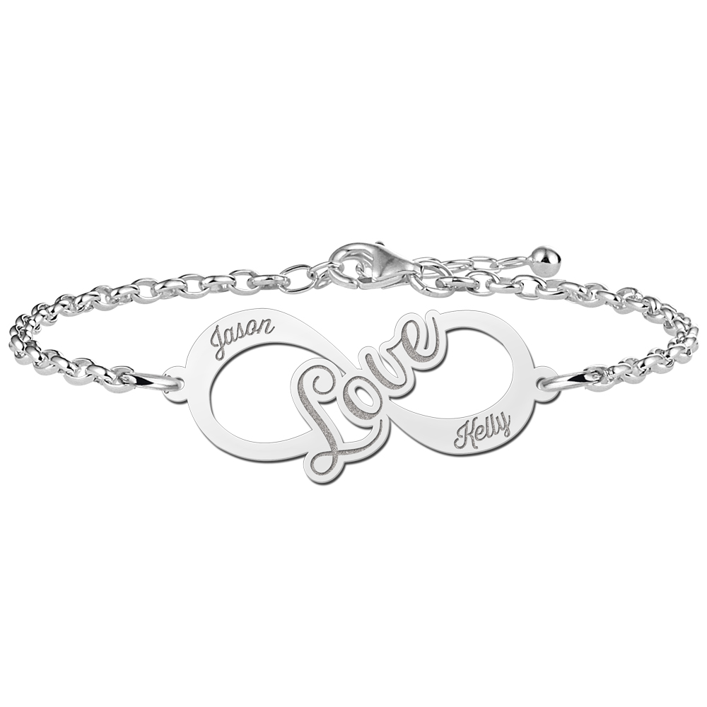 Love Infinity Armband aus Silber